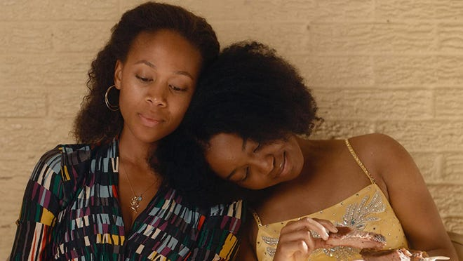 "Nicole Beharie, left, and Alexis Chikaeze star in ""Miss Juneteenth."""