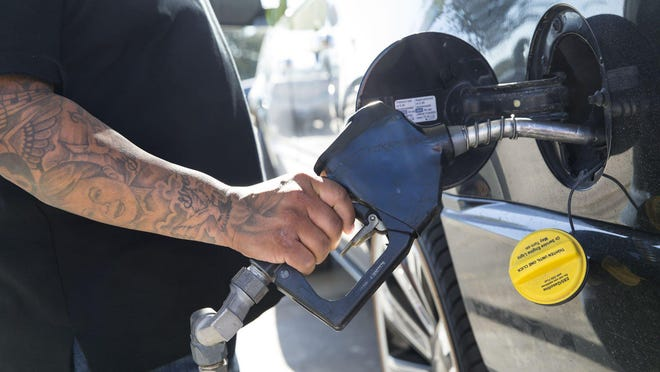Austin gas prices are up 12 cents per gallon in the past month, according to fuel-industry website GasBuddy.com.