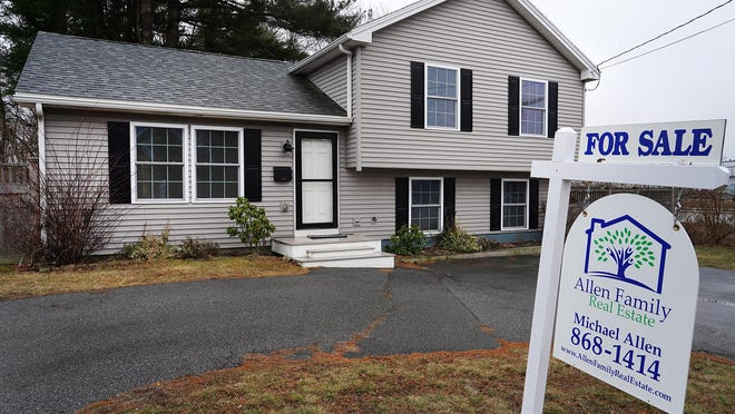 A home for sale this past March on Greenleaf Avenue in Portsmouth.