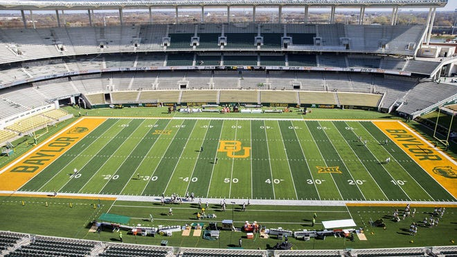 This is what a fall Saturday looked like hours before last year's Texas-Baylor game in Waco. Stadiums this season are going to be experiencing capacities of only a half, maybe a quarter, of regular size.