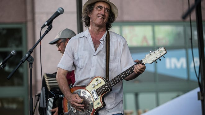 James McMurtry performs at the Bullock Museum's free Music Under the Star concert series on July 7, 2017.