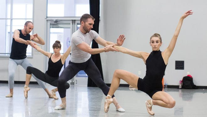 Ballet Austin Company dancers Edward Carr, Ashley Lynn Sherman, Paul Michael Bloodgood and Elise Pekarek rehearse for a 2016 production. Dancers are among the creative workers eligible for a new city relief grant.
