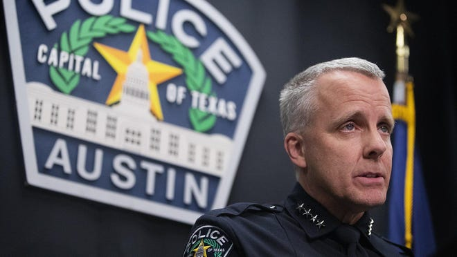 Austin Police Chief Brian Manley is proposing reducing the number of officers in certain units and reassigning them to patrol duties in response to recent cuts to the Police Department's budget.