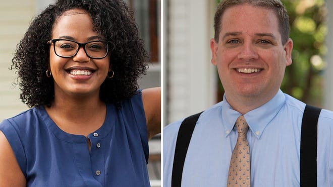 Leonela Felix, left, and Robert Wheeler vie for a House seat in Pawtucket on Nov. 3.