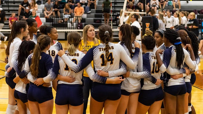 "Stony Point coach Juile Schier says her volleyball team showed tremendous ""fight, drive and teamwork"" while opening the season 3-0."