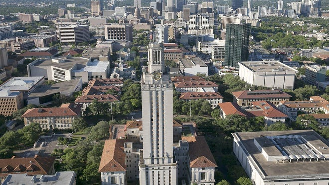 University of Texas students go to take COVID-19 tests Sept. 11, to be allowed to attend a football game. The scope of coronavirus transmission within Austin is directly dependent on the number of cases identified among UT students and vice versa, according to new projections from researchers at the university.