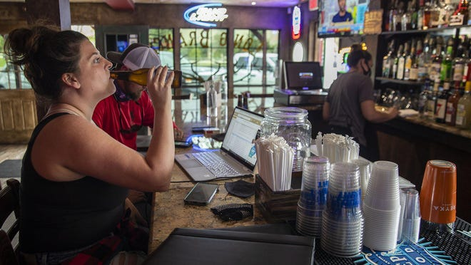 The Long Branch Saloon Bar in Round Rock had its doors open for customers during happy hour on Wednesday, Sept. 23, 2020.