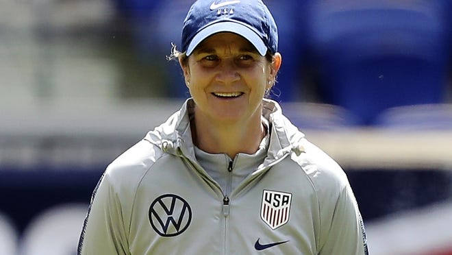 """""""As I look back on my journey, every female coach has gone it alone, so to speak,"""" Jill Ellis says. """"There's been very few opportunities to be in a room, or be on a coaching license course, with other women."""""""