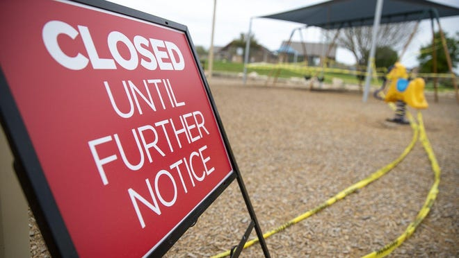 The coronavirus led to closures of parks, like this Pflugerville park shown in March, as well as closures of government offices that handle public records requests.