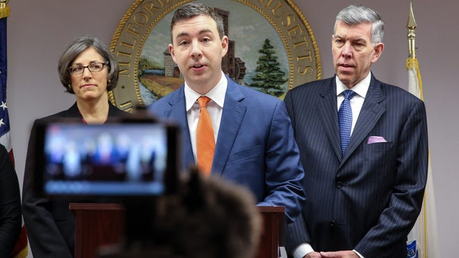 State Sen. Ryan Fattman, center, is one of six lawmakers appointed to find a compromise on the bill.