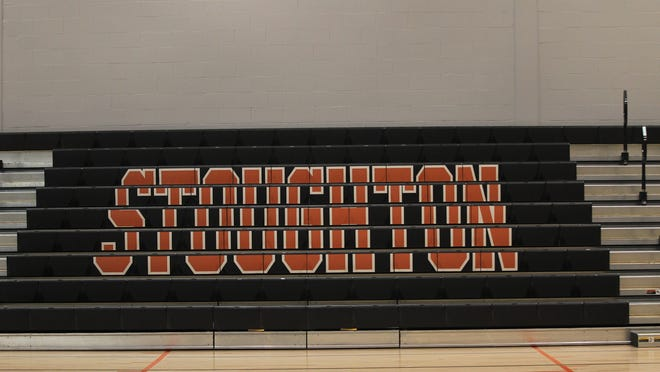 An Aug. 26, 2019, file photo shows the empty gymnasium in the new Stoughton High School.