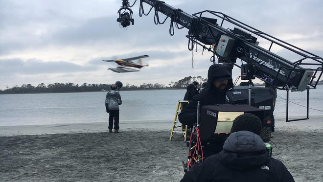 """A behind-the-scenes still from the Will Smith sci-fi action movie """"Gemini Man"""" in Savannah, Georgia."""