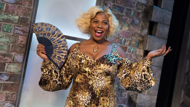 "Brenda Edwards as Motormouth Maybelle in the UK version of ""Hairspray."" The Broadway musical is scheduled to open at the Classic Center on June 21, 2020."