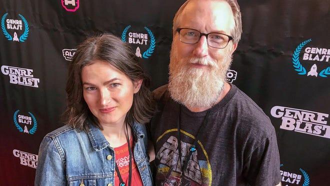 (L-R) Lane Skye and Ruckus Skye attend the GenreBlast Film Festival in October 2019.