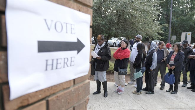 Long lines are expected at polling places across Georgia in Tuesday's elections.