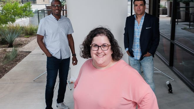 Jen Arsaga, Kelvin Glover and Carlos Ojeda work with Realty Austin,  which ranks No. 3 among large employers in the  American-Statesman's 2020 Top Workplaces of Greater Austin project.