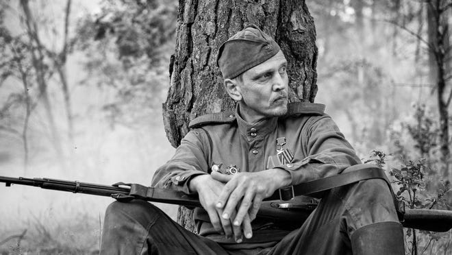 "This image released by IFC Films shows Barry Pepper in a scene from ""The Painted Bird."""