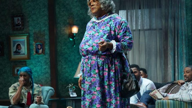 """The cast of """"Madea's Farewell Play"""" appear in this photo from the stage play's sold-out 2019 tour. The filmed version is scheduled to air on BET+ on August 27."""