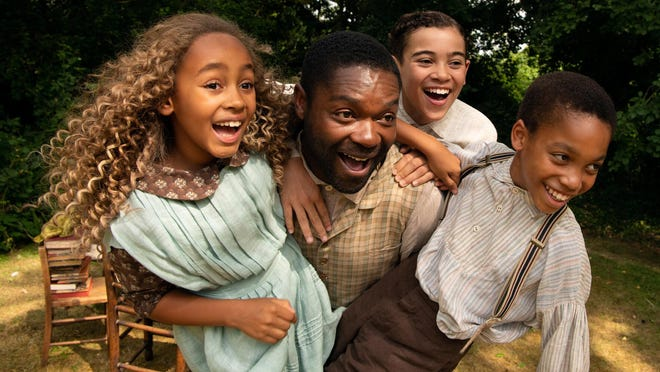 "(L-R) Keira Chansa, David Oyelowo, Reece Yates, and Jordan A. Nash star in ""Come Away."""