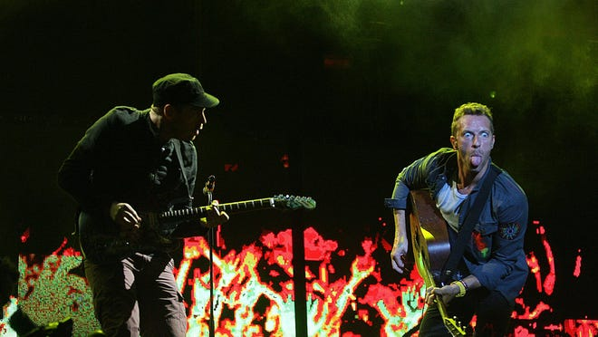 Coldplay onstage at Zilker Park during the 2011 Austin City Limits Music Festival. The archival set will be streamed on Friday as part of this year's first-ever virtual ACL fest.