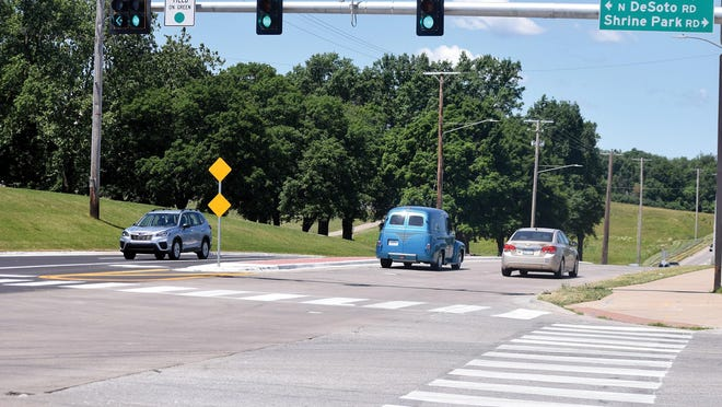 A DeSoto Road project has resulted in improvements to the intersection with Eisenhower Road.