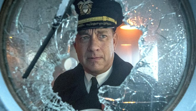 """Tom Hanks stars as a World War II U.S. Navy Commander in """"Greyhound."""" The Apple TV release was listed by tracking site Torrentfreak.com as the most-pirated movie of the week ending Aug. 3rd, 2020."""