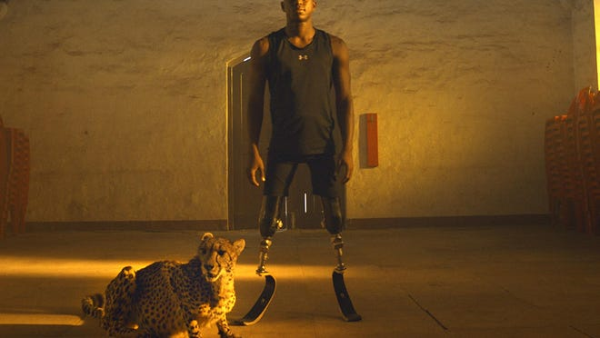 """Athlete Ntando Mahlangu is shown in this promotional still for the Netflix documentary """"Rising Phoenix."""""""