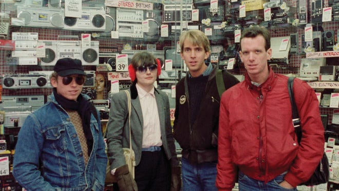 (L-R) Pylon founding members Curtis Crowe, Vanessa Briscoe Hay, Randy Bewley and Michael Lachowski are shown in this archival photo featured in the band's four-LP box set.