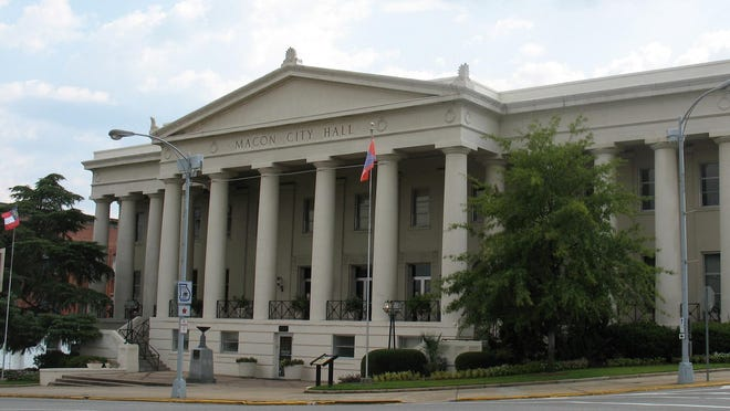 This photo from Sept. 3, 2011 shows the Macon City Hall Capitol building in Macon, Georgia.