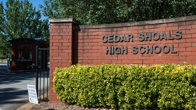 The graduation rate at Cedar Shoals High School in Athens fell to 77.1 percent, down from 83.5 percent in 2019.