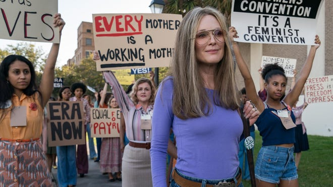 "Julianne Moore stars as Gloria Steinem in ""The Glorias."" The movie was shot in Savannah and is scheduled for digital release on September 20th."