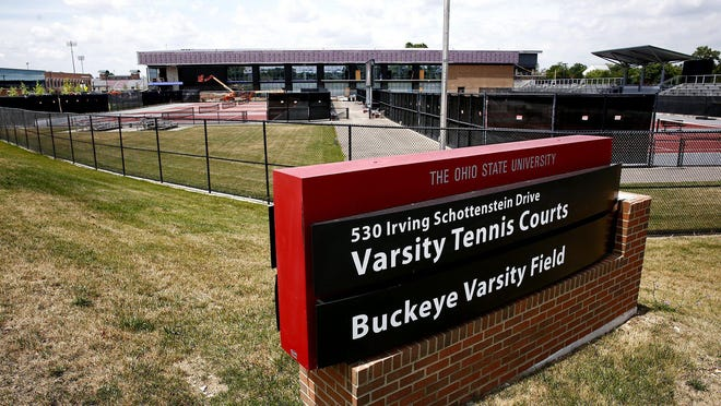 The Ty Tucker Tennis Center will be the latest athletic facility to open on Ohio State's northwest corner. Construction on the 75,000-square-foot center is nearing completion, at a cost of $23 million.