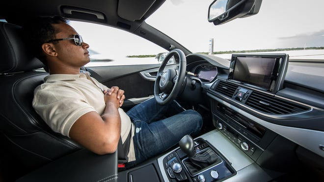 Audi demonstrates emergency technology that detects when a driver isn't responding, perhaps if passed out, and allow the car to slow down, move off to the shoulder, put it into park and call 911.