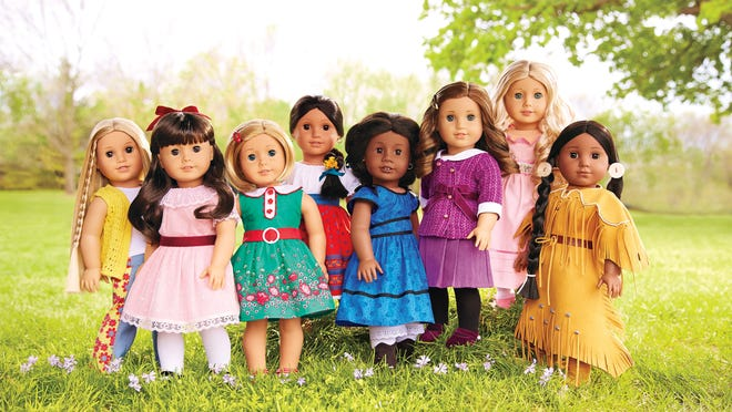 "American Girl's ""BeForever"" line-up features Julie, Samantha, Kit, Josefina, Addy, Rebecca, Caroline and Kaya."