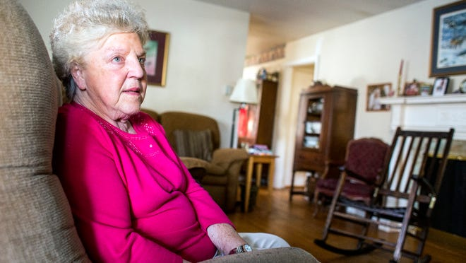 Asheville resident Betty Lanning, 76, was interviewed for a PBS Newshour series on poverty featuring Eblen Charities.