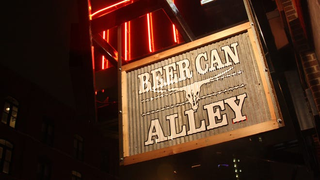 Beer Can Alley is in the Court Center building downtown.