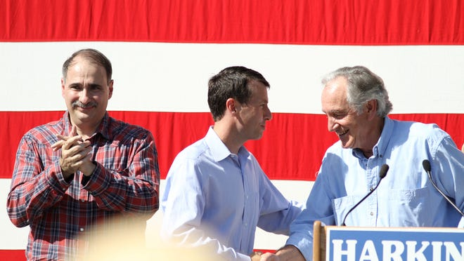 David Axelrod attended the 33rd annual Harkin Steak Fry at the Warren County Fairgrounds in Indianola in 2010.