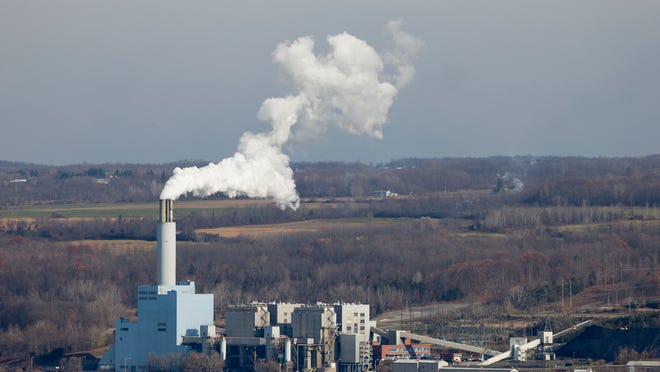 The Cayuga Power Plant in Lansing operates on a cold windy day in the middle of November 2014.