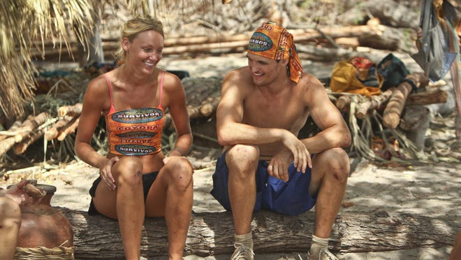 """""""Blood is Blood"""" - Jaclyn Schultz and Jon Misch during the fifth episode of Survivor 29, Wednesday, Oct. 22 (8:00-9:00 PM, ET/PT) on the CBS Television Network. Photo: Monty Brinton/CBS �©2014 CBS Broadcasting, Inc. All Rights Reserved."""