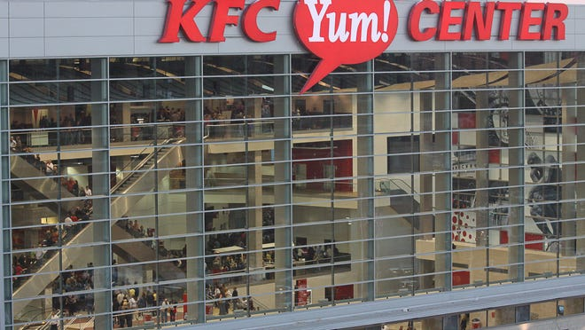 The Oct. 4 NBA exhibition game at the KFC Yum Center was sold out.