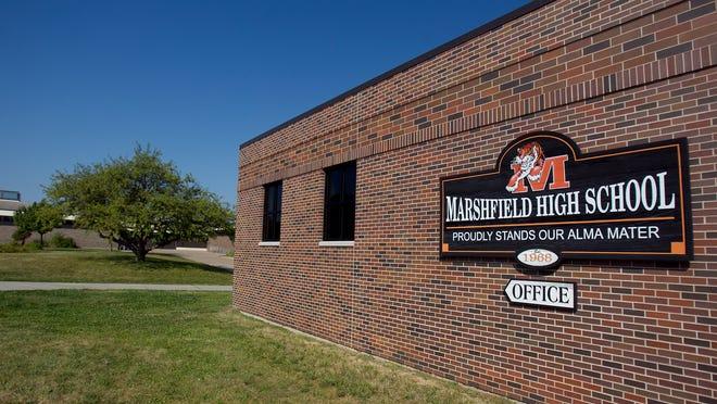 Marshfield High School in Marshfield, Tuesday, Aug. 27, 2013.