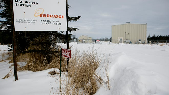 The Marshfield Enbridge station in the town of Cameron, Friday, Feb. 6, 2015.