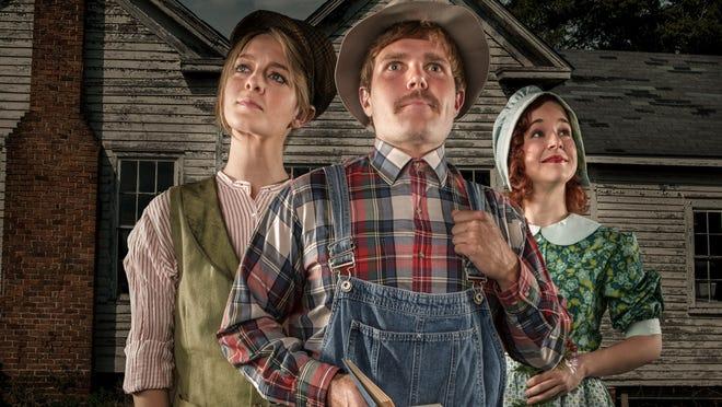 "The Nashville Shakespeare Festival presents ""As You Like It"" in Centennial Park through Sept. 14. From left, Emily Landham, Houston Mahoney and Amanda Card."