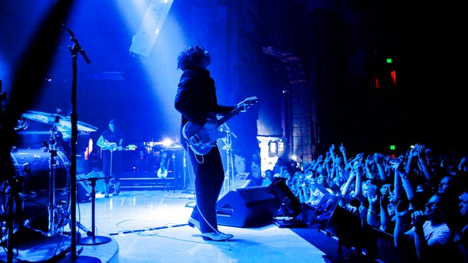 Jack White performs at the Mayan on Wednesday in Los Angeles. On Thursday, he performed his final Southern California concert in Pomona.