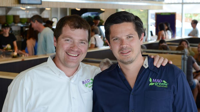 Marley Hodgson (left) and Dan Long are the founders of Mad Greens, a Colorado-based fast casual brand that is opening its first location outside its home state at Tempe Marketplace.