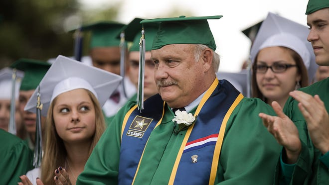 After a 46-year wait, Arnie Anderson graduated Saturday during the Webutuck High School commencement.