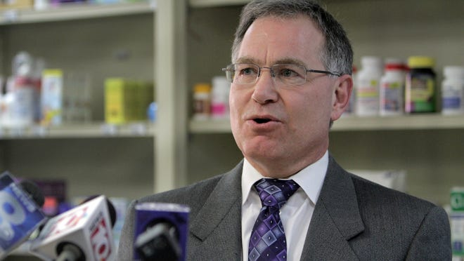 Joseph DiPoala, incoming president of the Monroe County Medical Society, spoke about the importance of medication adherence during an Excellus BCBS press conference at Joseph C. Wilson Medical Building earlier this month.