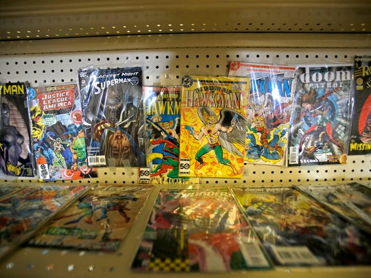 Comic books are displayed Monday at Ichigo Comics at Hutton Plaza in Farmington.