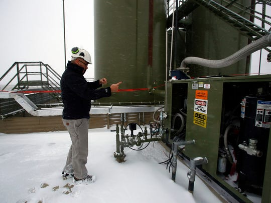 Jason Libersky Quantigy's Chief executive officer talks pm Dec. 14 at an oil and gas site near Lynbrook about technology that can capture methane emissions.