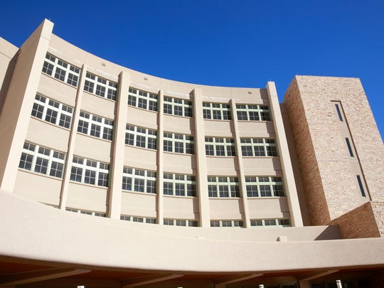 San Juan Regional Medical Center is pictured on Feb. 10 in Farmington.